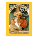 Alphonse (Alfons) Mucha Chocolat Ideal Post Card