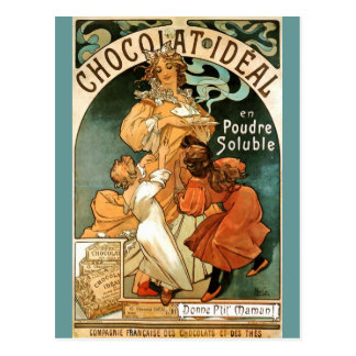 Alphonse (Alfons) Mucha Chocolat Ideal Postcard