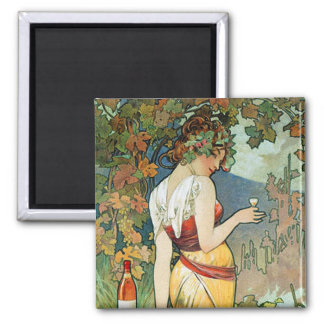 Alphonse (Alfons) Mucha: Cognac - Art Nouveau Magnet