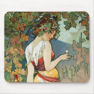 Alphonse (Alfons) Mucha: Cognac - Art Nouveau Mouse Pad