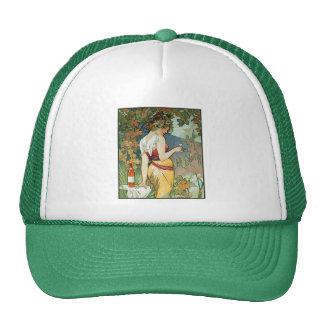 Alphonse (Alfons) Mucha: Cognac - Art Nouveau Trucker Hat