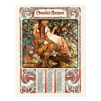 Alphonse Alfons Mucha Postcard Manhood