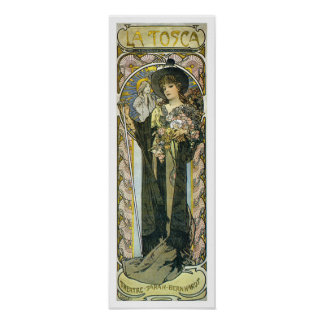 Alphonse [Alfons] Mucha Poster Print: La Tosca