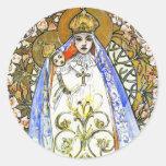 Alphonse (Alfons) Mucha - Savon Notre Dame Round Stickers
