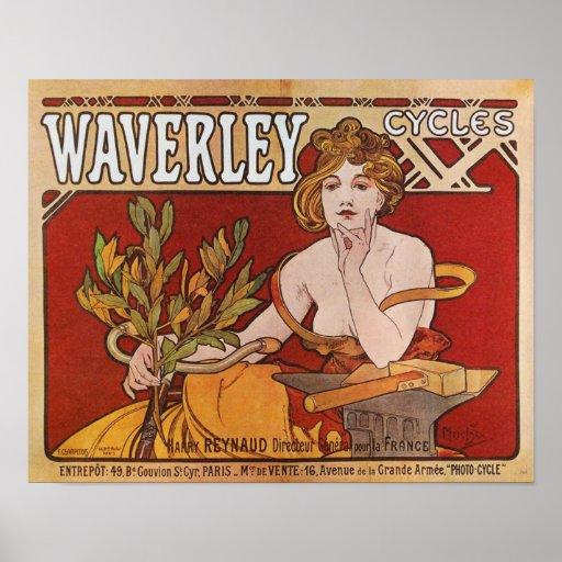 Alphonse ( Alfons ) Mucha ~ Waverley Cycles 1898 Poster