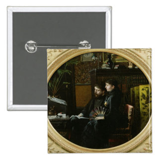Alphonse Daudet  and his Wife in their Study Button