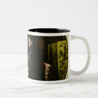 Alphonse Daudet  and his Wife in their Study Two-Tone Coffee Mug