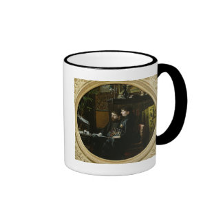Alphonse Daudet  and his Wife in their Study Ringer Coffee Mug