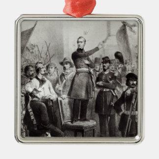 Alphonse de Lamartine at the Town Hall Metal Ornament