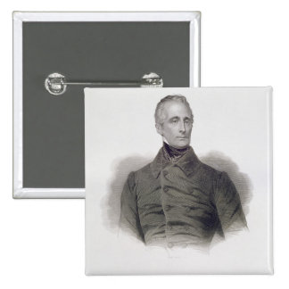 Alphonse de Lamartine, engraved by Pierre Pelee (1 Button