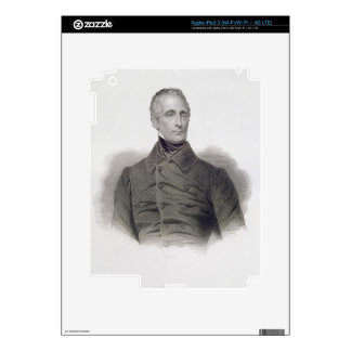 Alphonse de Lamartine, engraved by Pierre Pelee (1 Decal For iPad 3