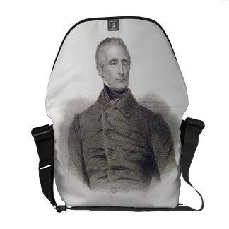 Alphonse de Lamartine, engraved by Pierre Pelee (1 Messenger Bag