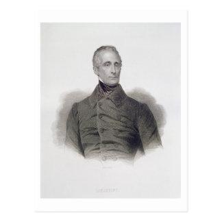 Alphonse de Lamartine, grabado por Pedro Pelee (1 Postal