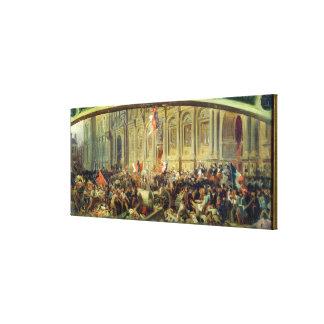 Alphonse de Lamartine Impresión En Lona