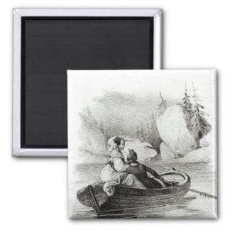 Alphonse de Lamartine y Elvire Imán Cuadrado