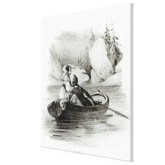 Alphonse de Lamartine y Elvire Impresiones De Lienzo