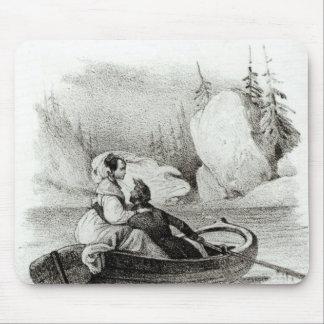 Alphonse de Lamartine y Elvire Tapete De Ratones