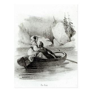 Alphonse de Lamartine y Elvire Tarjeta Postal