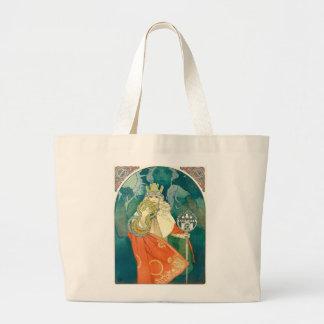 Alphonse Maria Mucha ~ Art Nouveau Large Tote Bag