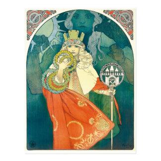 Alphonse Maria Mucha ~ Art Nouveau Postcard