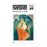 Alphonse Maria Mucha ~ Art Nouveau Stamps