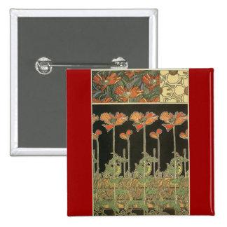 Alphonse Maria Mucha ~ Decoratifs Button
