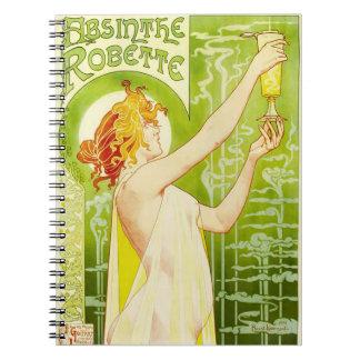 Alphonse Mucha Absinthe Robette Notebook