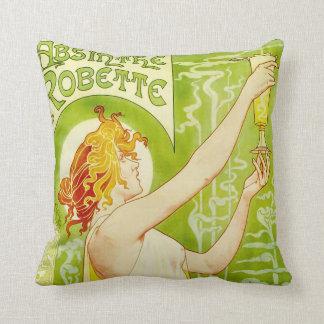 Alphonse Mucha Absinthe Robette Pillow