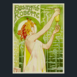"Alphonse Mucha Absinthe Robette Poster<br><div class=""desc"">Alphonse Mucha Absinthe poster. Lithograph poster. Czech artist Alphonse Mucha created some of the most visually arresting commercial artwork of the art nouveau period. Absinthe Robette is a poster featuring a beautiful young woman holding up a green glass of absinthe. The girl has dark red hair and wears a sheer...</div>"