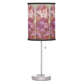 Alphonse Mucha Amethyst Art Nouveau Desk Lamp