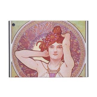 Alphonse Mucha Amethyst Art Nouveau Lady Vintage iPad Mini Case