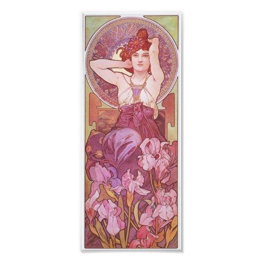 Alphonse Mucha Amethyst Art Nouveau Lady Vintage Photo Art