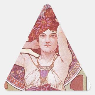 Alphonse Mucha Amethyst Art Nouveau Lady Vintage Stickers