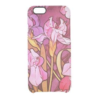 Alphonse Mucha Amethyst Floral Vintage Art Nouveau Clear iPhone 6/6S Case