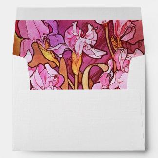 Alphonse Mucha Amethyst Floral Vintage Art Nouveau Envelope