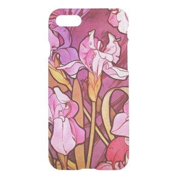 Alphonse Mucha Amethyst Floral Vintage Art Nouveau iPhone 7 Case
