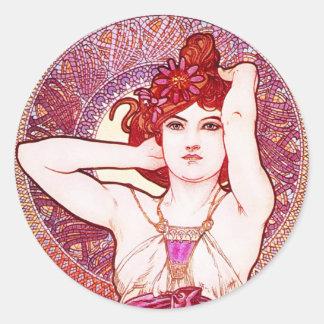 Alphonse Mucha Amethyst Stickers