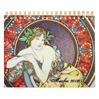 Alphonse Mucha Art Wall Calendar
