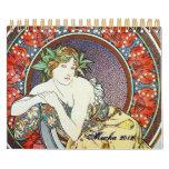 Alphonse Mucha Art Calendar