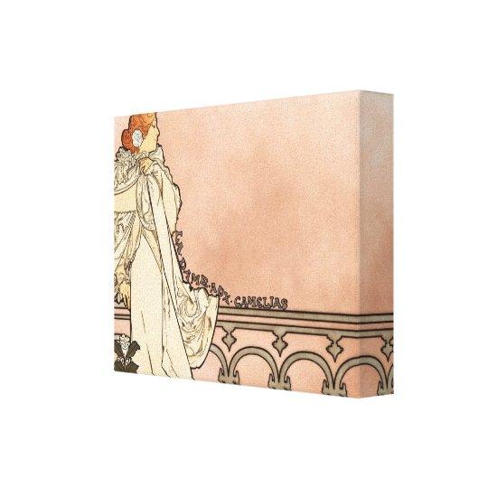 Alphonse Mucha Art Deco Canvas Print