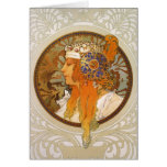 Alphonse Mucha Art Deco Cards