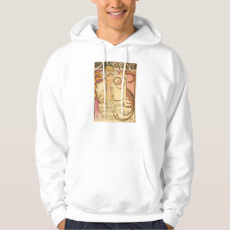Alphonse Mucha Art Deco Hooded Pullover