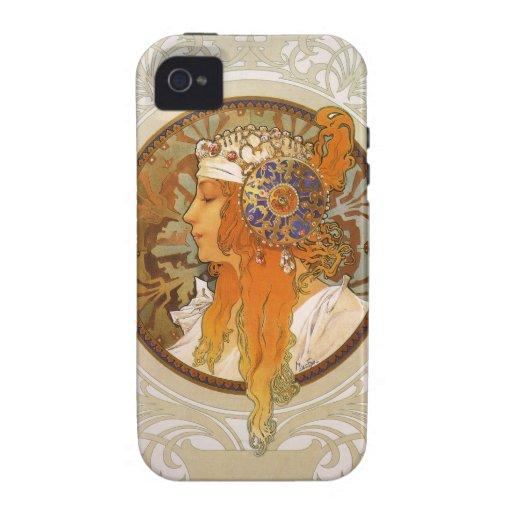 Alphonse Mucha Art Deco iPhone 4/4S Cases