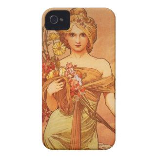 Alphonse Mucha Art Deco iPhone 4 Case