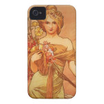 Alphonse Mucha Art Deco iPhone 4 Cases