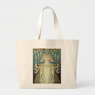 Alphonse Mucha Art Deco Large Tote Bag