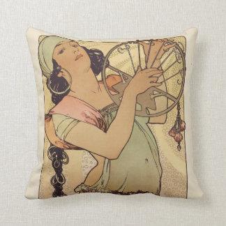 Alphonse Mucha Art Deco Pillows