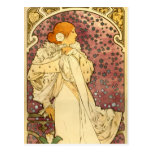 Alphonse Mucha Art Deco Post Card