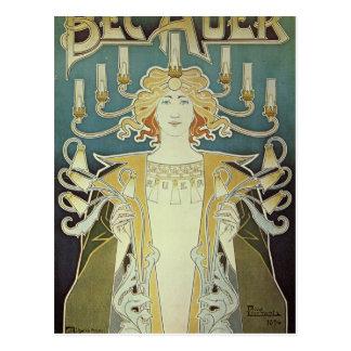 Alphonse Mucha Art Deco Postcard
