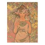 Alphonse Mucha Art Deco Postcards